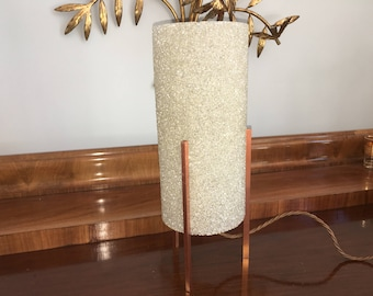 Vintage 1960s Mid Century Danish Modern Granita Copper Table Lamp