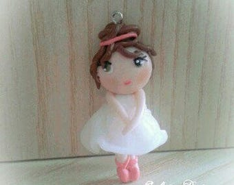 Dancer girl polymer clay favor baptism baby shower favors girls birthday communion favors ballet party favors