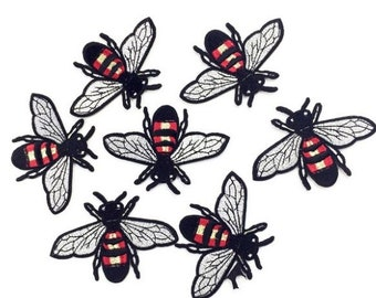 10PCS/LOT mini Bee patch Embroidery sew on iron on patch Decoration Accessories Embroidered patch  no.141