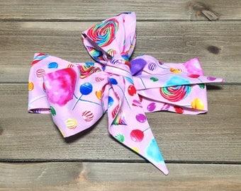 Matching Headbands- Candy Headband; Candy Headwrap; Candy Bow; Candy Bandana; Candy Bow Headband; Big Bow Headbands; Mommy and Me Headbands