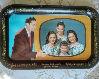 1950's Lawrence Welk and The Lennon Sisters Tray