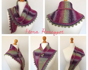 Hand made crochet shawl/mini shawl/ Shawlette/scarf/wrap
