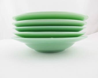 """Coupe Bowls - CHOICE - Fire-King Jadeite - Unmarked -Fire-King 'Jadeite' - Salad/Soup Bowls -  8"""" Diameter Bowls"""