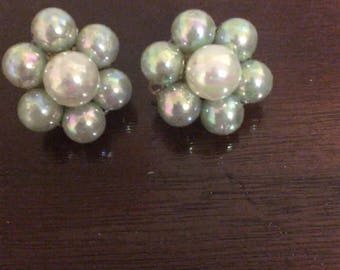 Beautiful Clip on Cluster Earrings