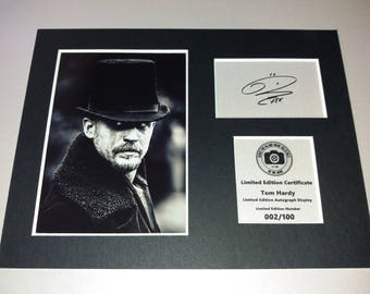 Tom Hardy - Taboo - Signed Autograph Display - Fully Mounted and Ready To Be Framed - V2