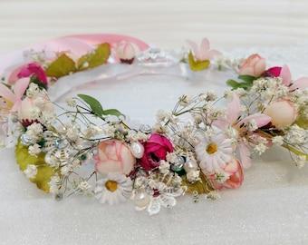 Guinivere's Garden Medieval Festive Bridal Flower Crown