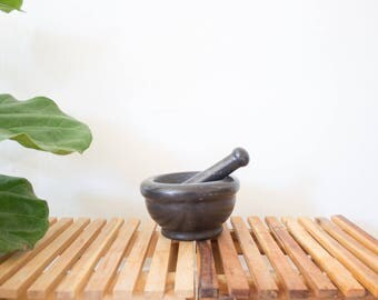 vintage marble mortar and pestle