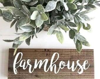 Farmhouse Reclaimed Wood Sign