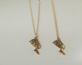 Queen Nefertiti gold plated chain