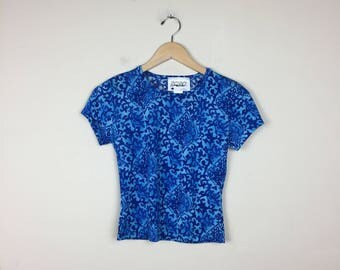 90s Paisley Top, Blue Paisley Top