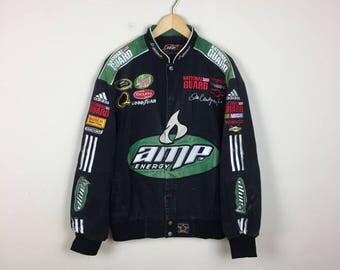 Vintage NASCAR Racing Jacket, Dale Earnhardt Jr Jacket, Racing Jacket