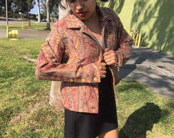 70s  Vintage Psychedelic Coat