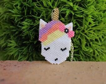 Unicorn miyuki beads