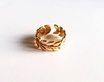 Caesar ring gold plated wild fine gold filled ring
