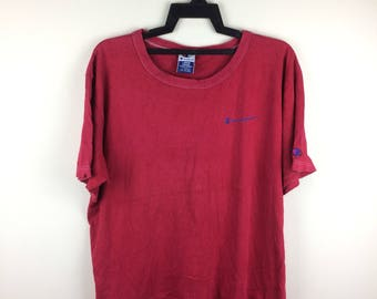 MEGA SALE !! Champion Products Small Logo Tee Sportwear Brand Large Size Large Size