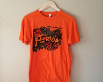 Vintage Miami Beach Florida Tourist T Shirt