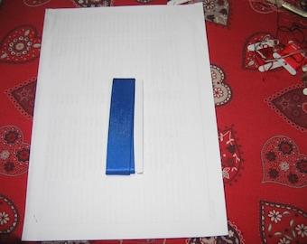Ribbon width blue satin 2.5 cm