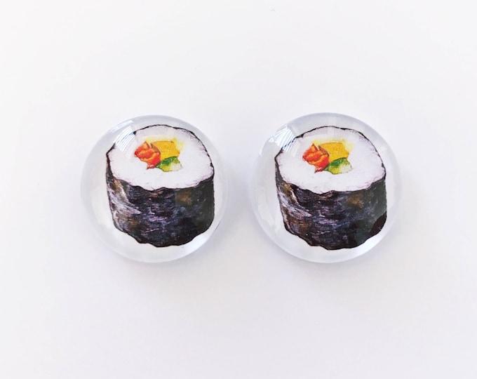 The 'Sushi' Glass Earring Studs