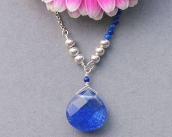 Blueberry Quartz Pendant