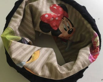 Neck circumference/Snood / scarf personalized minnie