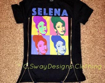 Selena Zipper T-shirt