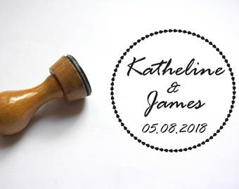 Custom stamp, wedding stamp, crown pattern, to customize your letters, thank You Cards, Personalized Wedding Favors, Wedding Thank You Tag