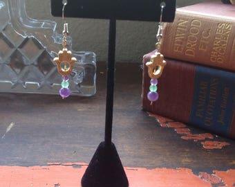 Gold Hand (Hamsa) Earrings