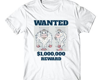 Wanted Poster Abominable Snowman Funny T-Shirt