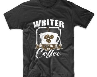 Writer Fueled By Coffee Funny T-Shirt