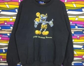 Rare!! MICKEY MOUSE Sweatshirt Big Logo
