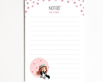 "Notepad A6 ""LIA & NAI"", Task List, Shopping List, Organizer, planner, Pretty Stationery, Notes"