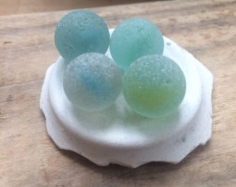 Genuine surf tumbled Sea glass marbles