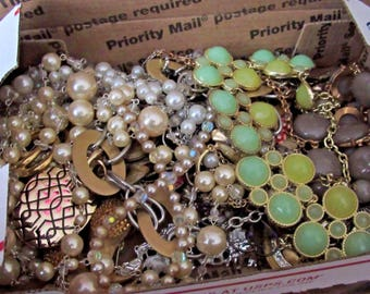 ALL WEARABLE Grab bag Lot Vintage to Current Jewelry unresearched untested V21