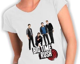 Big time rush-neck t shirts women