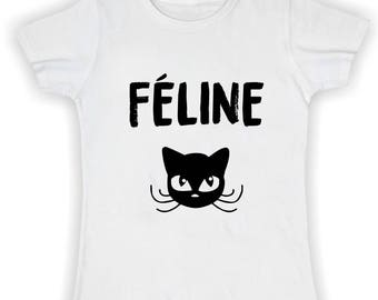 Basic feline woman t shirt