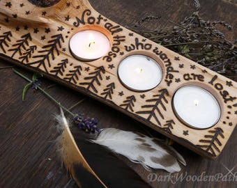 Not all those who wander are lost. Tealight holder ~ Tolkien ~ LOTR