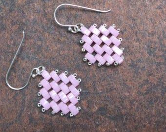 Soft Pink Links  Earrings