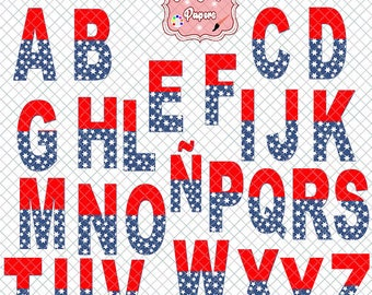 Supergirl Alphabet, letters of the alphabet, white stars with red and blue, alphabet super woman, letters clipart