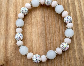 Light Pink Beaded Bracelet