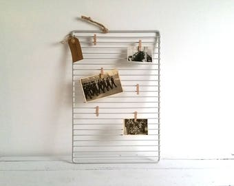 Industrial vintage memo board / card organizer for all your special memories