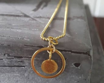 Silver gold plated ball chain with Pendant (also silver plated).