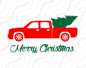 Christmas Truck SVG, Merry Christmas, Christmas Tree SVG Cut table Design,svg,dxf,png Use With Silhouette Studio & Cricut_Instant Download