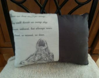 Those We Love Don't Go Away Rememerance Pillow Keepsake/In Memory Poem Gifts/Gift in Memory of loss/Sympathy Poem/Gift to Remember Loved One