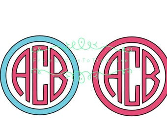 Circle Monogram Decal With Initials