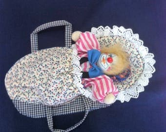 Cushion cover handmade with baby doll