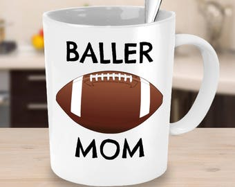 Football Mom or Football Dad Mug - Football Dad Gift - Football Mom Gift -Unique Coffee, Tea Cup - Football Team Parent, Coach
