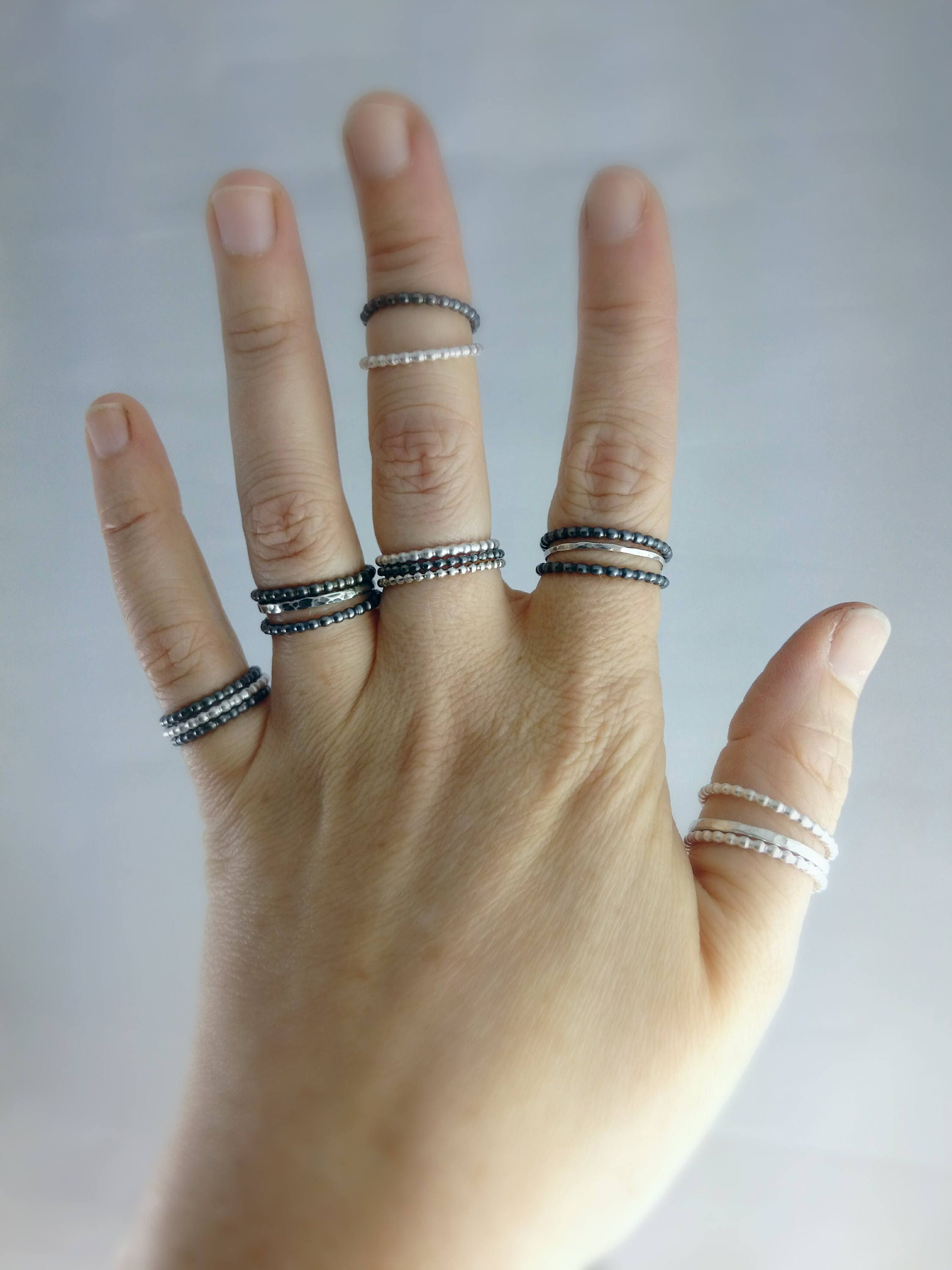set rings products wedding artemer crown black tiny diamonds on white band gold ring diamond stackable finger curved round