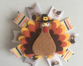 Thanksgiving Hairbow- Thanksgiving Hairbows- Turkey Hairbows- Turkey Bow- Turkey Bows- Turkey Hairbows- Fall Hairbows- Fall Accessories-