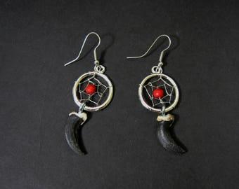 Coyote Claw Dreamcatcher Earrings (560-E101)