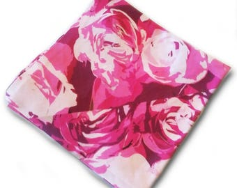Pink Roses Pocket Square
